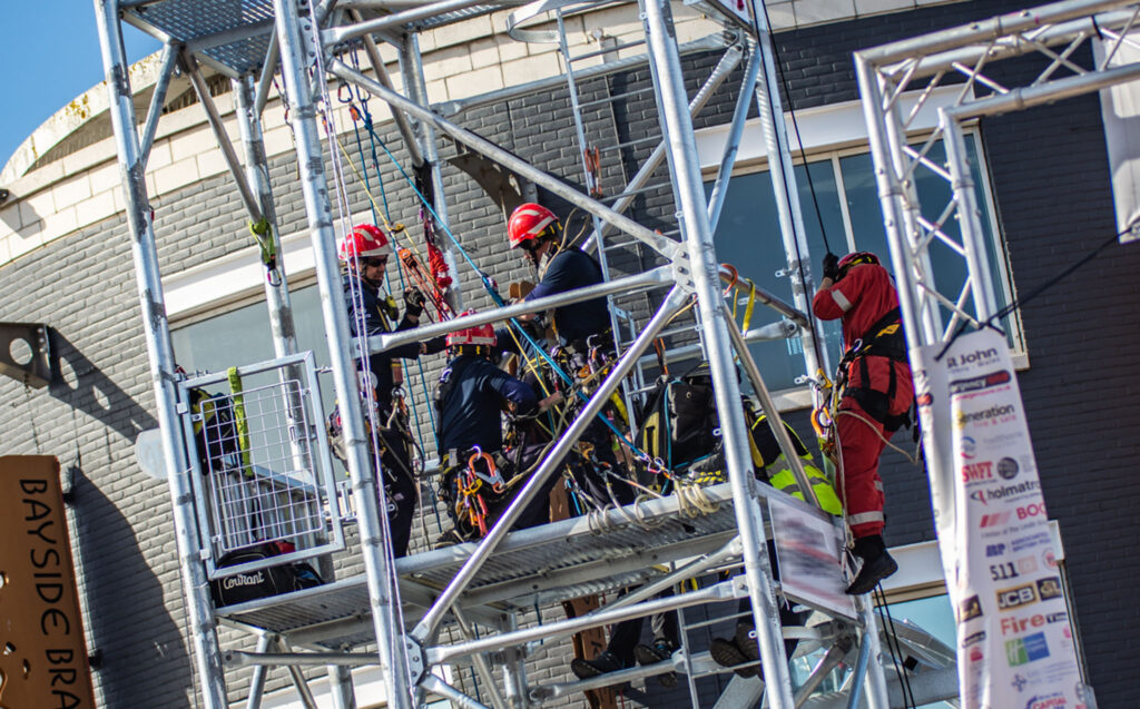 Image of rope rescue challenge